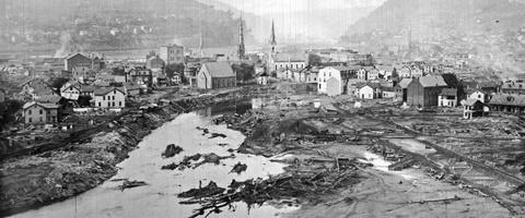 Historic photo of 1889 Johnstown Flood